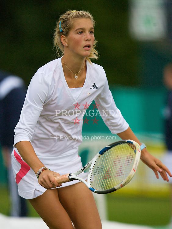 Liverpool, England - Friday, June 15, 2007: Nikola Hoffmanova (AUT) in action on day four of the Liverpool International Tennis Tournament at Calderstones Park. For more information visit www.liverpooltennis.co.uk. (Pic by David Rawcliffe/Propaganda)