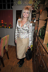 JO WOOD at a dinner in aid of the Soil Association held at Bumpkin, 102 Old Brompton Road, London SW7 on 11th March 2009.