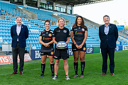 (Left to Right ) Representatives Jon Whiley and Brian Lodge from SW Comms with Patricia Garcia, Susie Appleby, Garnet MacKinder attend a Sponsors evening to announce their shirt sponsorship for Exeter Chiefs Women - Mandatory by-line: Ryan Hiscott/JMP - 17/09/2020 - RUGBY - Sandy Park - Exeter, England - Exeter Chiefs Women - Shirt Sponsors Evening