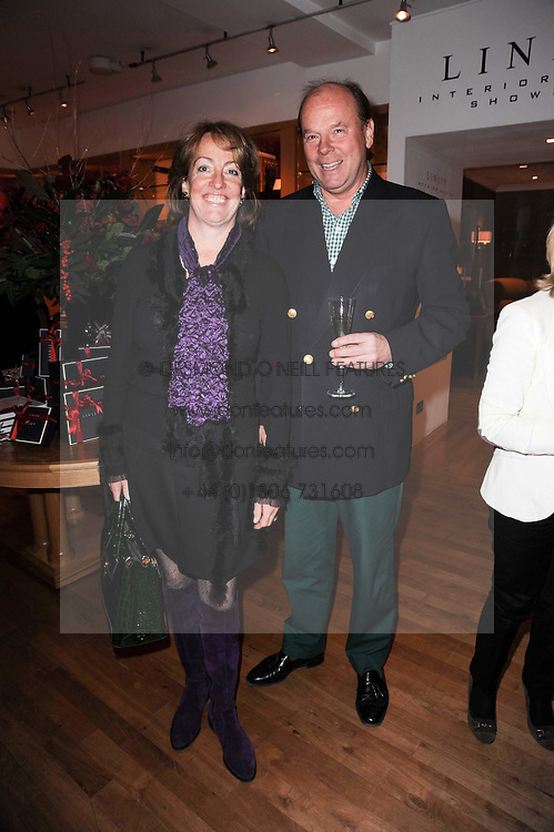 MARK & LADY ALEXANDRA ETHERINGTON at the Linley Christmas Party and launch of the book 'Star Pieces' by David Linley, Charles Cator and Helen Chislett held at Linley, 60 Pimlico Road, London on 18th November 2009.