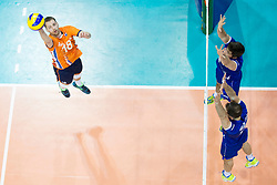 Robbert Andriga of The Netherlands during volleyball match between national teams of Slovenia and Netherlands of 2018 CEV volleyball Godlen European League, on June 6, 2018 in Arena Bonifika, Koper, Slovenia. Photo by Urban Urbanc / Sportida