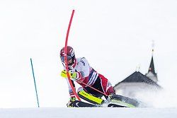 03.01.2020, Hochstein, Lienz, AUT, OeSV, Training Slalom, im Bild Johannes Strolz (AUT) // Johannes Strolz of Austria during a Slalom training session in preparation for the upcoming FIS Alpine Skiing World Cup Zagreb at the Hochstein in Lienz, Austria on 2020/01/03. EXPA Pictures © 2019, PhotoCredit: EXPA/ Lukas Huter