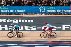Reto Hollenstrein (SUI) of Team Katusha - Alpecin (WT) during the 2019 Paris-Roubaix (1.UWT) with 257 km racing from Compiègne to Roubaix, France. 14th april 2019. Picture: Pim Nijland | Peloton Photos  <br /> <br /> All photos usage must carry mandatory copyright credit (Peloton Photos | Pim Nijland)