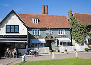 Tea rooms and antique shop in the attractive tourist honeypot village of Finchingfield, Essex, England