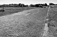 .Historic section of Route 66 south of Springfield, Illinois..Driving the Illinois and Missouri road of Route 66. Route 66 in America.