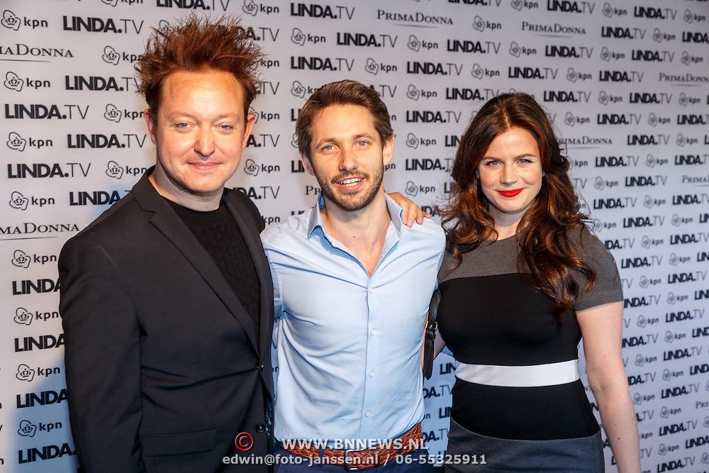 NLD/Amsterdam/20151026 - Lancering Linda TV, Rop Verheijen en Elise Schaap met haar partner Wouter de Jong