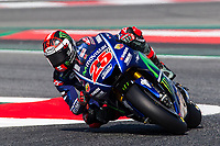 Maverick Vinales of Spain and Movistar Yamaha MotoGP Team  rides during free practice for the MotoGP of Catalunya at Circuit de Catalunya on June 10, 2017 in Montmelo, Spain.(ALTERPHOTOS/Rodrigo Jimenez)