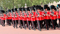 LONDON - JUNE 16: The Irish Guards attend Trooping The Colour, Buckingham Palace, London, UK. June 16, 2012. (photo by piQtured)