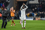 Fikayo Tomori (29) of Chelsea FC claps towards the fans after the The FA Cup match between Hull City and Chelsea at the KCOM Stadium, Kingston upon Hull, England on 25 January 2020.