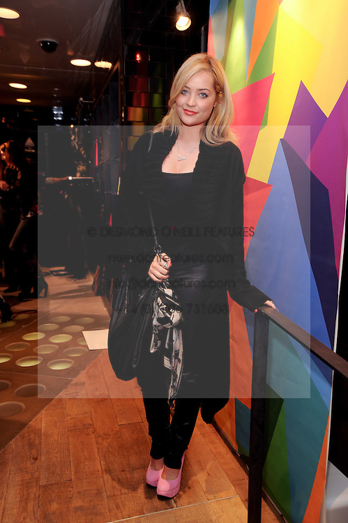 LAURA WHITMORE at a party to celebrate the Firetrap Watches and Kate Moross Collaboration Launch, held at Firetrap, 21 Earlham Street, London, UK on 13th October 2010.