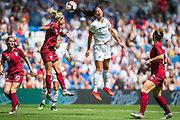 Steph Houghton (Capt) (England) & Abby Erceg (New Zealand) heading the ball during the FIFA Women's World Cup UEFA warm up match between England Women and New Zealand Women at the American Express Community Stadium, Brighton and Hove, England on 1 June 2019.
