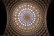 Architecture details of an ornamented ceiling in a church of Nam Dinh province, Vietnam, Asia