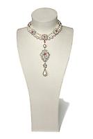 La Peregrina Pearl pendant on white background
