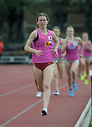 Mar 24, 2018; Los Angeles, CA, USA; Chloe Berry of Southern California places second in the women's 1,500m in 4:29.81 during the Power 5 Trailblazer challenge at Cromwell Field.