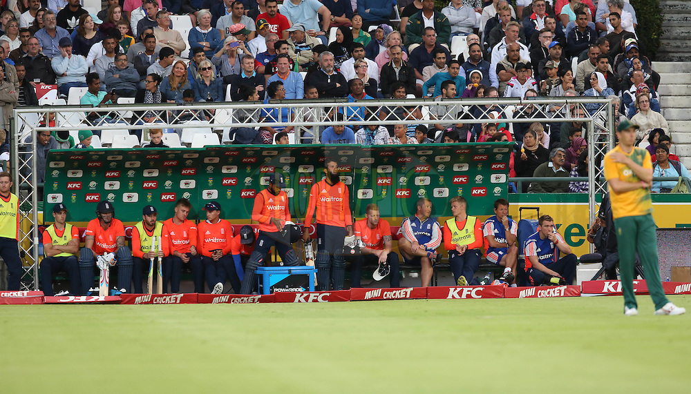 England team during the First KFC T20 Match between South Africa and England played at Newlands Stadium, Cape Town, South Africa on February 19th 2016