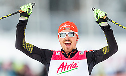 21.02.2016, Salpausselkae Stadion, Lahti, FIN, FIS Weltcup Nordische Kombination, Lahti, Langlauf, im Bild Fabian Riessle (GER) // Fabian Riessle of Germany celebrates during Cross Country Gundersen Race of FIS Nordic Combined World Cup, Lahti Ski Games at the Salpausselkae Stadium in Lahti, Finland on 2016/02/21. EXPA Pictures © 2016, PhotoCredit: EXPA/ JFK