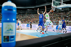 Alen Omic of Slovenia vs Vincent Pourchot of France during basketball match between National teams of Slovenia and France in Quarterfinal Match of U20 Men European Championship Slovenia 2012, on July 20, 2012 in SRC Stozice, Ljubljana, Slovenia. (Photo by Matic Klansek Velej / Sportida.com)