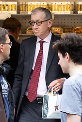 © Licensed to London News Pictures. 30/05/2019. London, UK. Philip May, husband of British Prime Minister Theresa May seen leaving a Pret-a-Manger cafe in Central London. Photo credit : Tom Nicholson/LNP