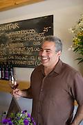 Winemaker tasting the 2006 Inaugural Monticello vintage from Mountfair Vineyards.