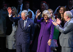 14.03.2016, Zagreb, CRO, der Britische Kronprinz Charles und seine Frau Camilla besuchen Kroatien, im Bild British Crown Prince Charles and his wife Camilla, the Duchess of Cornwall, are visiting Croatia as part of a regional tour that will include Serbia, Montenegro and Kosovo. They visited the Croatian National Theatre and participated in a programme to commemorate the 400th anniversary of the death of William Shakespeare. EXPA Pictures © 2016, PhotoCredit: EXPA/ Pixsell/ Jurica Galoic<br /> <br /> *****ATTENTION - for AUT, SLO, SUI, SWE, ITA, FRA only*****