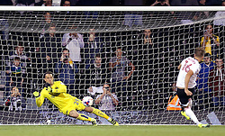 Ivan Lucic of Bristol City saves a penalty from Cauley Woodrow of Fulham - Mandatory by-line: Robbie Stephenson/JMP - 21/09/2016 - FOOTBALL - Craven Cottage - Fulham, England - Fulham v Bristol City - EFL Cup