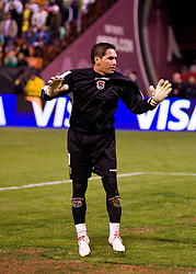 February 24, 2010; San Francisco, CA, USA;  Bolivia goalkeeper Daniel Vaca (1) during the second half against Mexico at Candlestick Park. Mexico defeated Bolivia 5-0.