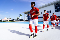 Antoine Semenyo of Bristol City during the 2nd leg of the match after the previous day's game was abandoned at half time due to extreme weather - Rogan/JMP - 14/07/2019 - IMG Academy, Bradenton - Florida, USA - Bristol City v Derby County - Pre-Season Tour Day 3.