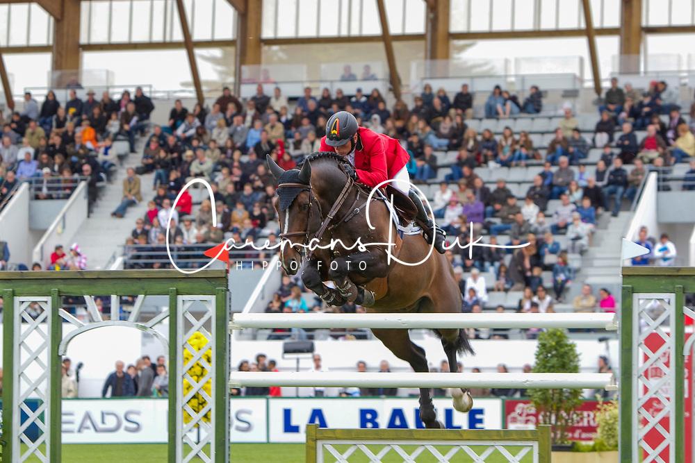 Demeersman Dirk (BEL) - Bufero vh Panishof<br /> FEI Nations Cup La Baule 2012<br /> © Dirk Caremans