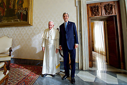 December 2, 2016 - Rome, Italy - U.S Secretary of State John Kerry stands for a photo with Pope Francis during their meeting at the Vatican December 2, 2016 in Rome, Italy. (Credit Image: © Us State Department/Planet Pix via ZUMA Wire)