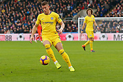 Chelsea midfielder Ross Barkley (8) controls the ball as Chelsea defender David Luiz (30) looks on during the Premier League match between Crystal Palace and Chelsea at Selhurst Park, London, England on 30 December 2018.