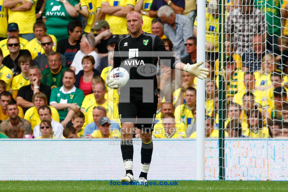 John Ruddy of Norwich during the Barclays Premier League match at Carrow Road Stadium, Norwich, Norfolk...Picture by Paul Chesterton/Focus Images Ltd.  07904 640267.21/8/11