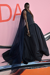 June 4, 2019 - New York, NY, USA - June 3, 2019  New York City..Alek Wek attending CFDA Fashion Awards arrivals at the Brooklyn Museum on June 3, 2019 in New York City. (Credit Image: © Kristin Callahan/Ace Pictures via ZUMA Press)