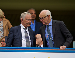 LONDON, ENGLAND - Sunday, September 22, 2019: Premier League chairman Richard Scudamore (L) and Chelsea's chairman Bruce Buck before the FA Premier League match between Chelsea FC and Liverpool FC at Stamford Bridge. (Pic by David Rawcliffe/Propaganda)