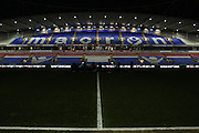 Empty stadium before the floodlights come on before during the Sky Bet Championship match between Bolton Wanderers and Ipswich Town at the Macron Stadium, Bolton, England on 8 March 2016. Photo by Simon Brady.