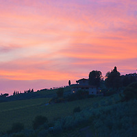 Tuscan sunset, taken in Panzano in Chianti
