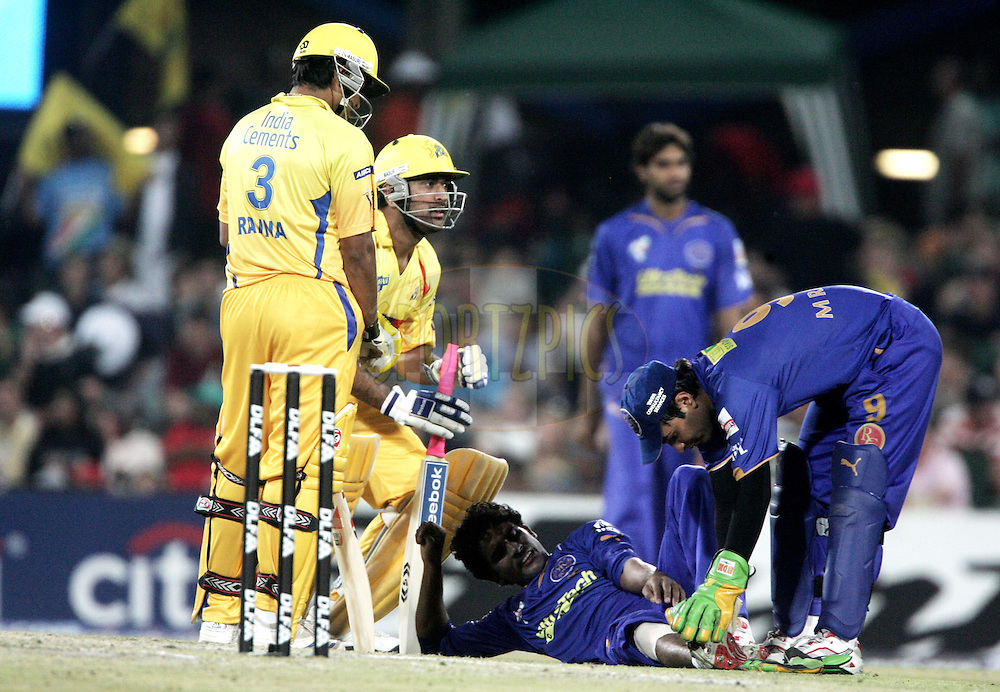 CENTURION, SOUTH AFRICA - 30 April 2009.  during the  IPL Season 2 match between the Rajasthan Royals and the Chennai Superkings held at  in Centurion, South Africa. Kamran Khan on the ground.