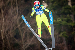 Eva Pinkelnig (AUT) during 1st Round at Day 1 of FIS Ski Jumping World Cup Ladies Ljubno 2018, on January 27, 2018 in Ljubno ob Savinji, Ljubno ob Savinji, Slovenia. Photo by Ziga Zupan / Sportida