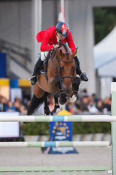Karaevli Omer (TUR) - Classic<br /> Final 7 years<br /> FEI World Breeding Jumping Championships for Young Horses - Lanaken 2014<br /> © Dirk Caremans