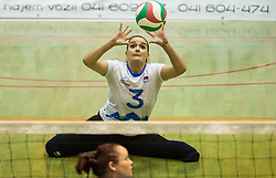 Senta Jeler of Slovenia during friendly Sitting Volleyball match between National teams of Slovenia and China, on October 22, 2017 in Sempeter pri Zalcu, Slovenia. (Photo by Vid Ponikvar / Sportida)