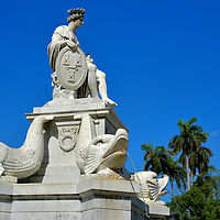 Fountain of the Indian Woman in Havana, Cuba<br />
