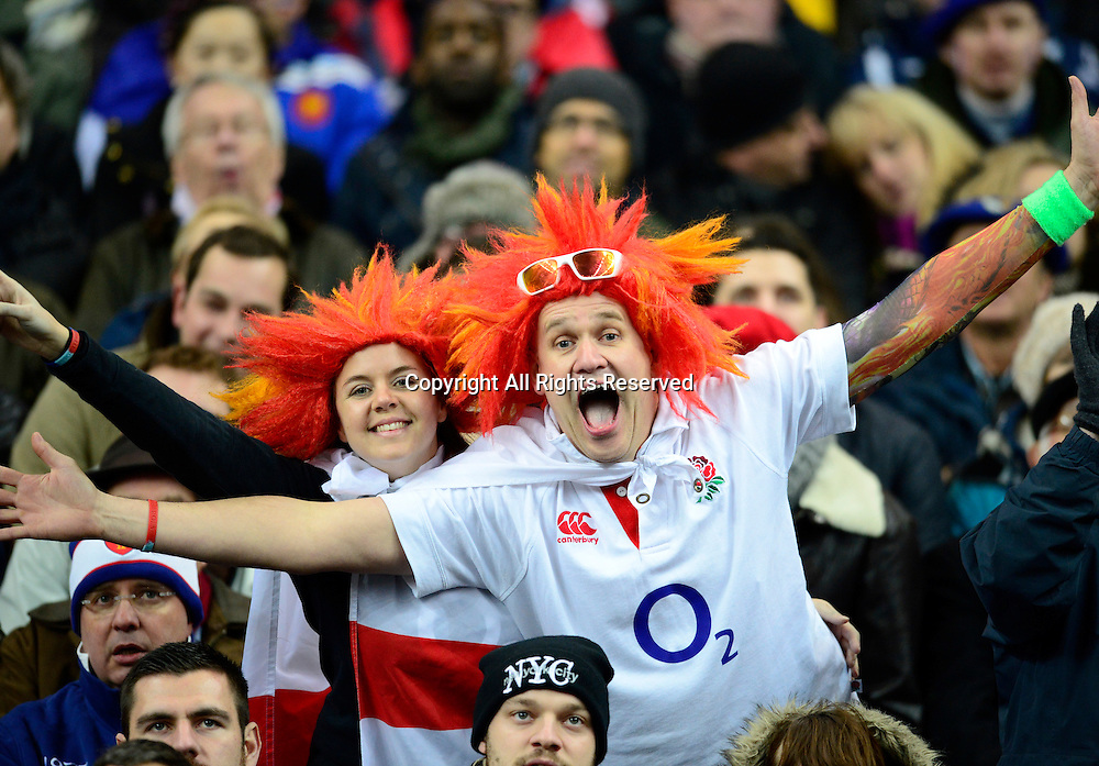 01.02.2014. Stade de France, Paris, France. 6 Nations International Rugby Union. France versus England. English supporters