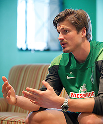 13.01.2014, Teamhotel, Jerez de la Frontera, ESP, FS Vorbereitung, SV Werder Bremen, Trainingslager, im Bild Sebastian Prödl / Proedl (Bremen #15) gibt Interview // Sebastian Prödl / Proedl (Bremen #15) gibt Interview after a practice session at the training camp of the German Bundesliga Club SV Werder Bremen at the Teamhotel in Jerez de la Frontera, Spain on 2014/01/13. EXPA Pictures © 2014, PhotoCredit: EXPA/ Andreas Gumz<br /> <br /> *****ATTENTION - OUT of GER*****