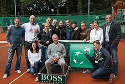 Organising team during Davis Cup Slovenia vs. South Africa on September 15, 2013 in Tivoli park, Ljubljana, Slovenia. (Photo by Vid Ponikvar / Sportida.com)