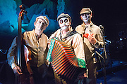 05_09/2013. The Tiger Lillies present Rime of the Ancient Mariner in the Queen Elizabeth Hall, on London's Southbank. Featuring Martyn Jacques, Adrian Stout and Mike Pickering.