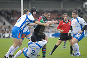 Twickenham. Great Britain, Quins,Tani FUGA, attacking with the ball, during the, European Challenge Cup, match between, NEC Harlequins and Montpellier, on Sat., 28/10/2006, played at the Twickenham Stoop, England. Photo, Peter Spurrier/Intersport-images]......