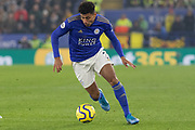 James Justin (2) during the Premier League match between Leicester City and Watford at the King Power Stadium, Leicester, England on 4 December 2019.
