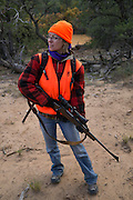 Rachel Shockley hunts for elk on New Mexico Public Lands near Cuba during her first time hunting big game during rifle season.