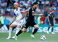 Emil Hallfredsson (Iceland) and Lionel Messi (Argentina) <br /> Moscow 16-06-2018 Football FIFA World Cup Russia  2018 <br /> Argentina - Iceland / Argentina - Islanda<br /> Foto Matteo Ciambelli/Insidefoto