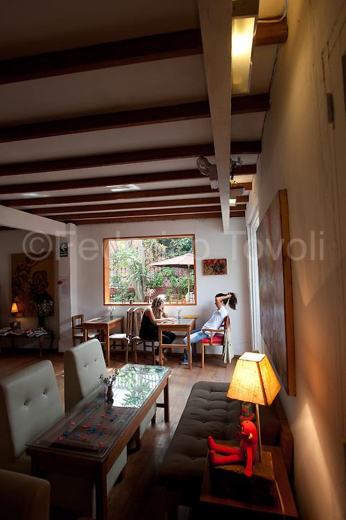 Barranco. interior of cafateria  Bodega Verde.