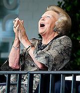 ROTTERDAM - Prinses Beatrix  op de tribune bj het Chio Rotterdam tijdens de Internationaal dressuur <br /> Grand Prix Special . COPYRIGHT ROBIN UTRECHT FOTOGRAFIE